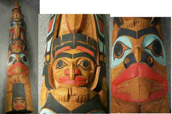 "727: LELOOSKA Northwest Indian Totem Pole 117"""