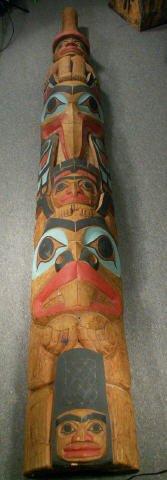 "727: LELOOSKA Northwest Indian Totem Pole 117"" - 2"