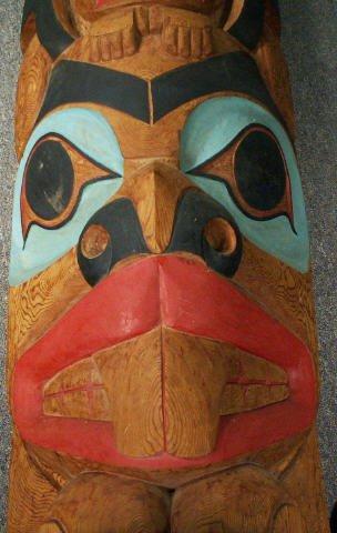 "727: LELOOSKA Northwest Indian Totem Pole 117"" - 4"