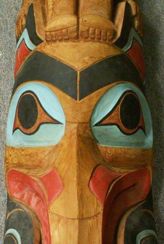 "727: LELOOSKA Northwest Indian Totem Pole 117"" - 5"