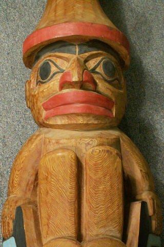 "727: LELOOSKA Northwest Indian Totem Pole 117"" - 6"