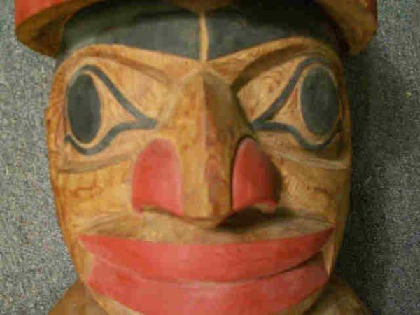 "727: LELOOSKA Northwest Indian Totem Pole 117"" - 8"