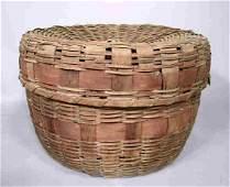 752: NE Indian Covered Splint Basket