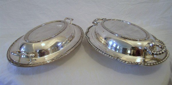116: Two Silverplated Vegetable Servers