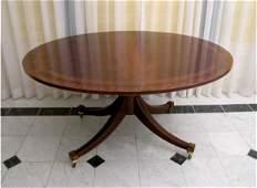 321: Baker Banded Mahogany Dining Table