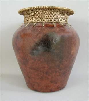 Terracotta Pot Basket Weave Neck