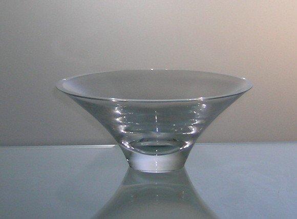 8: Elegant Shallow Crystal Bowl