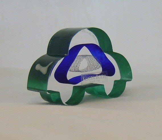 12: Drive My Car Kosta Boda Glass Sculpture