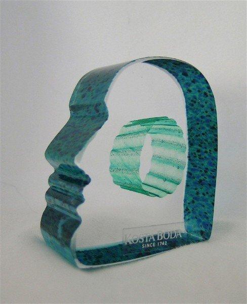 15: Art Glass Mans Mind Kosta Boda Vallien