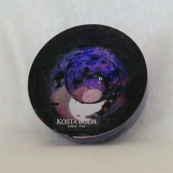 18: Kosta Boda Glass sculpture Bowl Vallien
