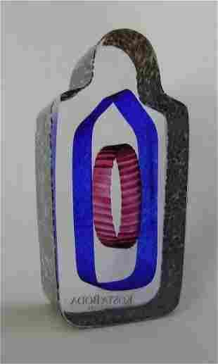 Sarcophagus Art Glass Mini Sculpture