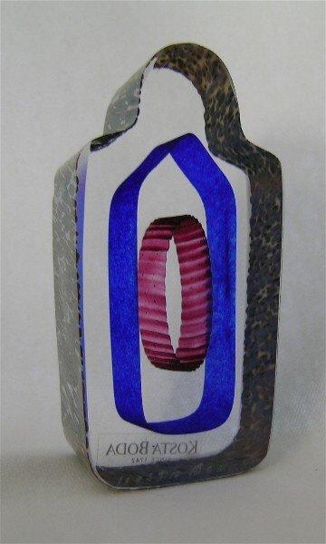23: Sarcophagus Art Glass Mini Sculpture