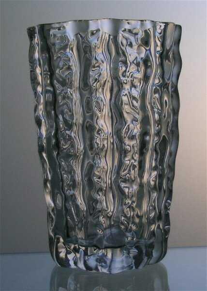 40 Mikasa Frostfire Glass Vase Crystal