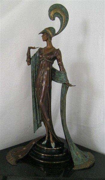 219: DIRECTOIRE Bronze Sculpture by Erte