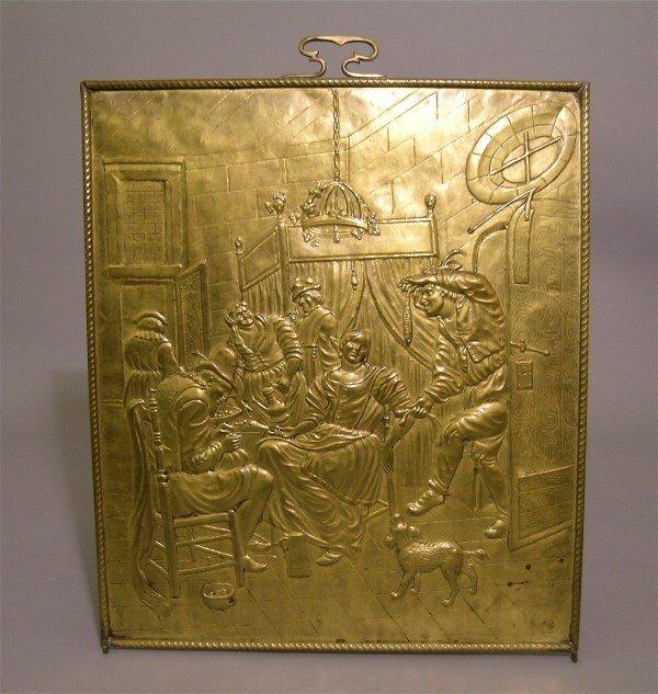 4: Antique Brass Fire Screen Panel
