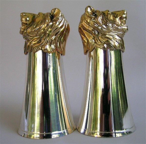 5: Silver Stirrup Cups Gold Lion