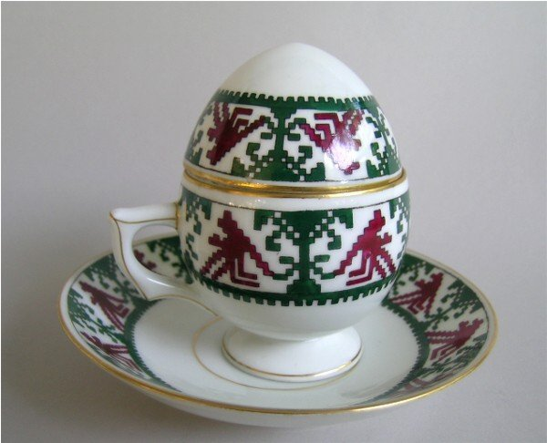 7: Russian Egg Teacup and Saucer