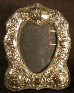 Sterling Silver Photo Frame Heart Shape