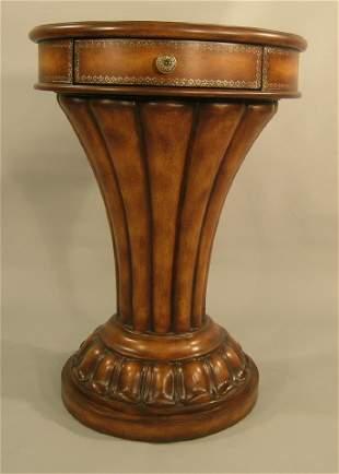 Fluted Pedestal Table