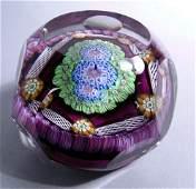 1062 1972 Perthshire Paperweight Art Glass Purple