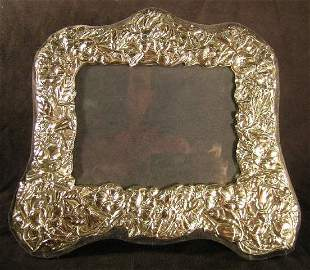 Sterling Silver Photo Frame Floral English