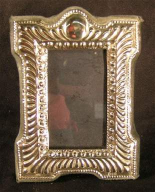 Sterling Silver Picture Frame Edwardian Style