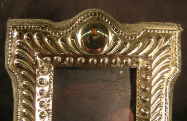 809C: Sterling Silver Picture Frame Edwardian Style - 3