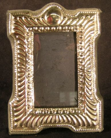 809C: Sterling Silver Picture Frame Edwardian Style - 7