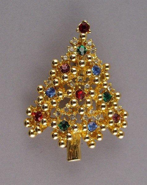1024: Eisenberg Christmas Tree Gold tone