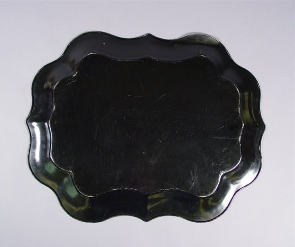 1034: Lot of Vintage Tole Painted Trays - 3