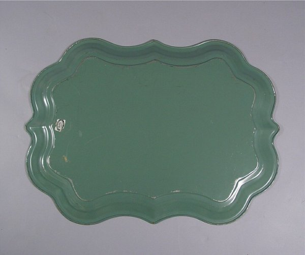 1034: Lot of Vintage Tole Painted Trays - 7