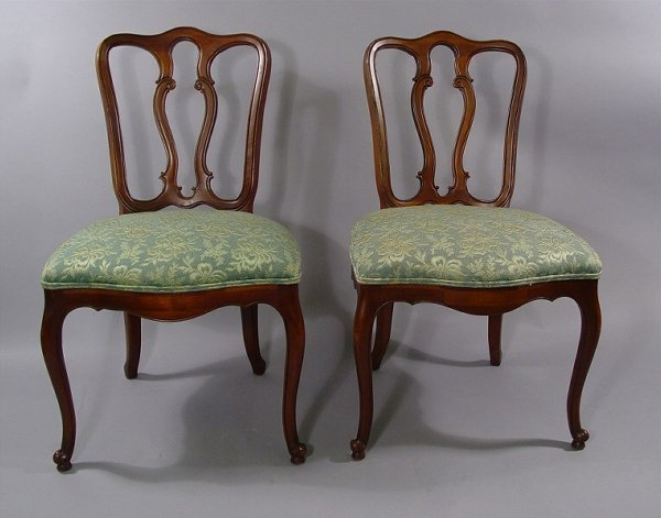 1148: 8 Country French Chairs Cherry wood