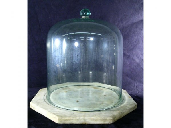 597: Large Glass Cake Dome Cheese Cover
