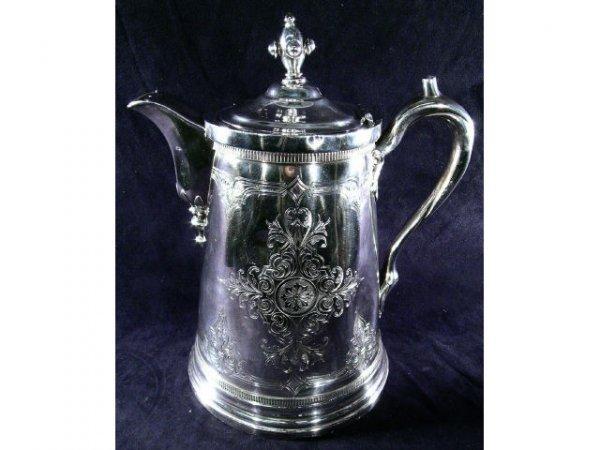 656: Simpson Hall Miller Silver Victorian Pitcher