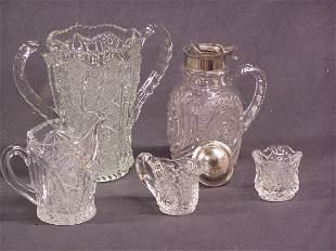 Pressed Glass Lot