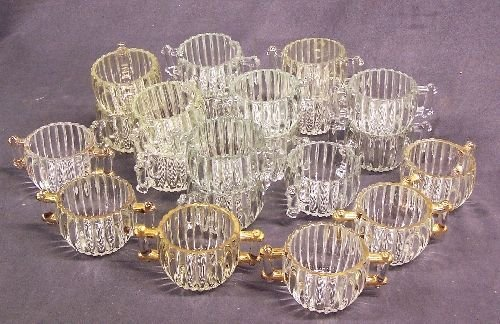 1094: Depression Glass Lot National Sugar Bowls