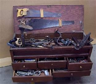 Tool Chest with Carpentry Tools