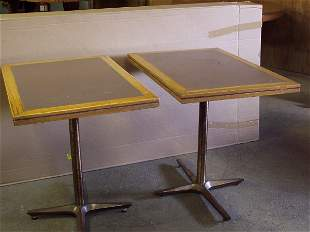 """Two 36"""" X 36"""" Restaurant Grade Tables"""