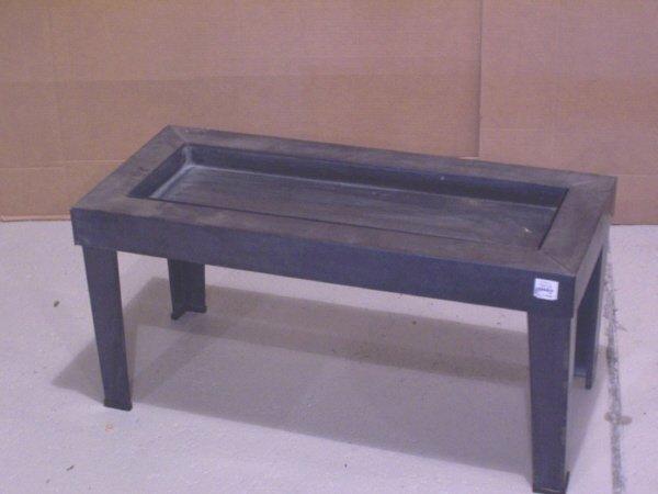 111: Metal Garden Planter Coffee Table