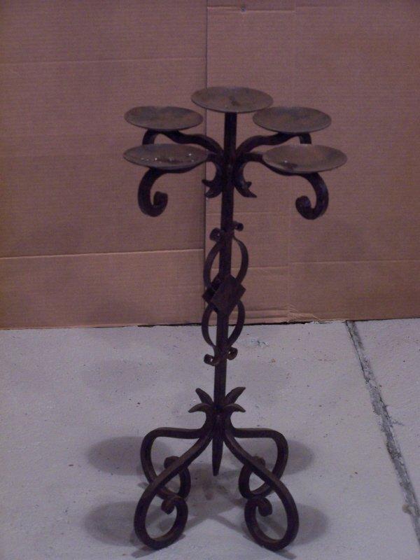 112: Candlestick Wrought Iron Candelabra