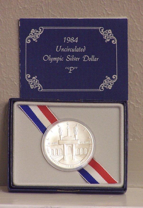100: 1984-P Olympic Silver Dollar