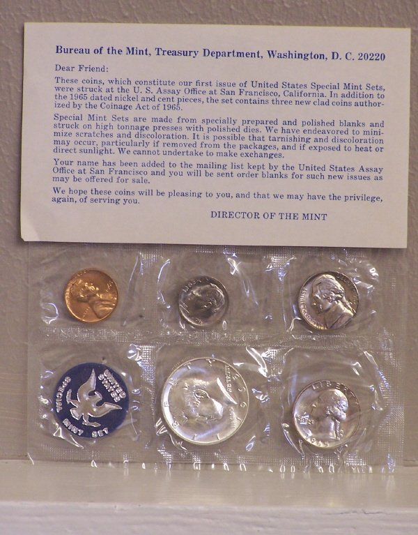 101: 1965 Special Mint Set  First Year of Issue