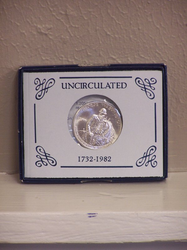 103: George Washington Silver Fifty Cent Piece 1982-D