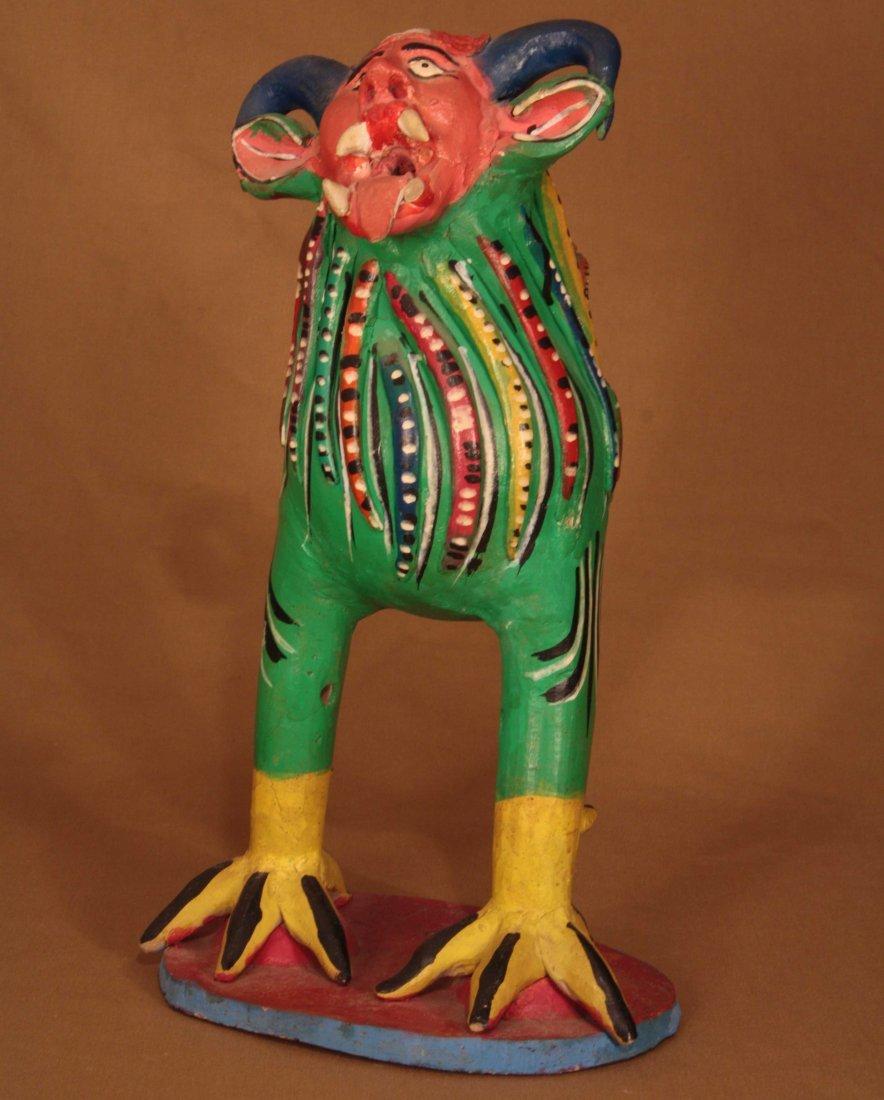 Colorful Ceramic Nagual By Candelario Medrano