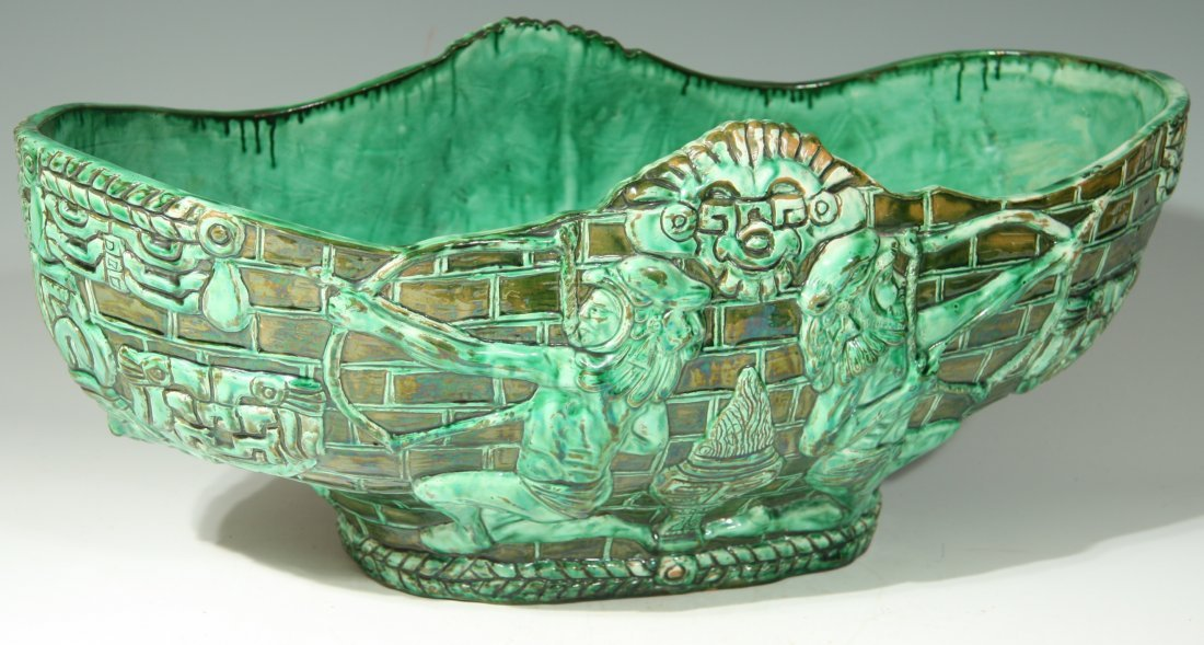 Green Ceramic Bowl Made in Mexico