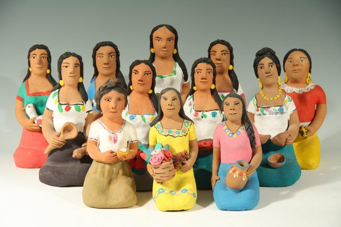 12 Kneeling Ladies by Josephina Aguilar