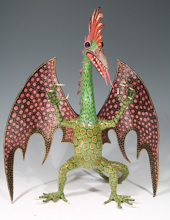 Rare Colorful Alebrije by Miguel Linarez