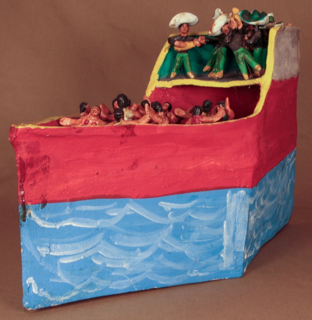 Ceramic Boat by Rocendo Rodriguez
