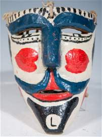 """Moors and Christians Dance Mask With """"L"""" On Chin"""