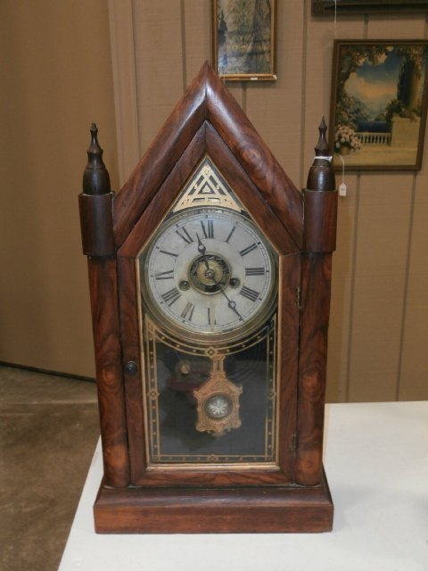 E. N. Welch Sharp Gothic Steeple Clock
